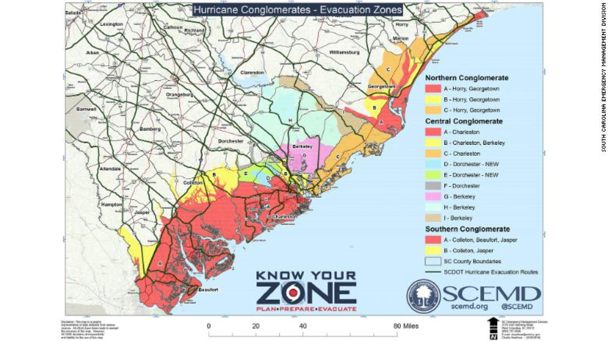 Hurricane Florence affected areas